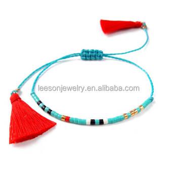Por Handmade Bohemian Custom Miyuki Bracelets Long Tel Bracelet String Bead For Women Men