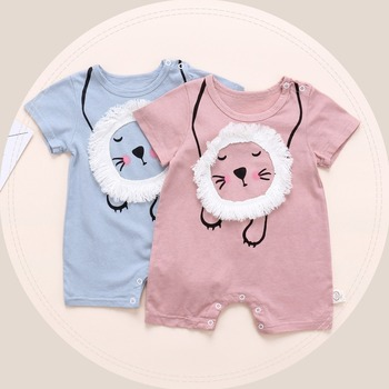 40e778ec32d73 Import $1 Baby Clothes Embroidery Lion Design Solid Color Infant Rompers  From China Suppliers
