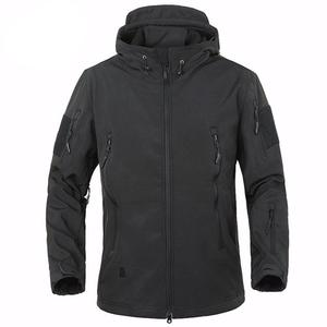 Men Combat Jacket Waterproof Softshell Fleece Jacket With Hood