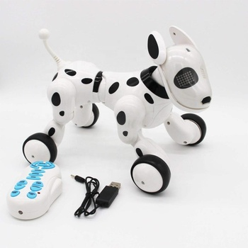 Blanc Télécommande Sans Fil Interactif Puce Grandeur Nature Jouets Robot Chien Intelligent Pour Des Garçonsfilles Buy Chien Robot Intelligentchien