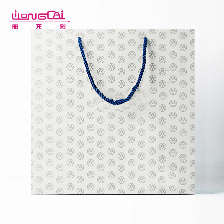 China wholesale hign end heavy duty luxury recycled shopping paper bag