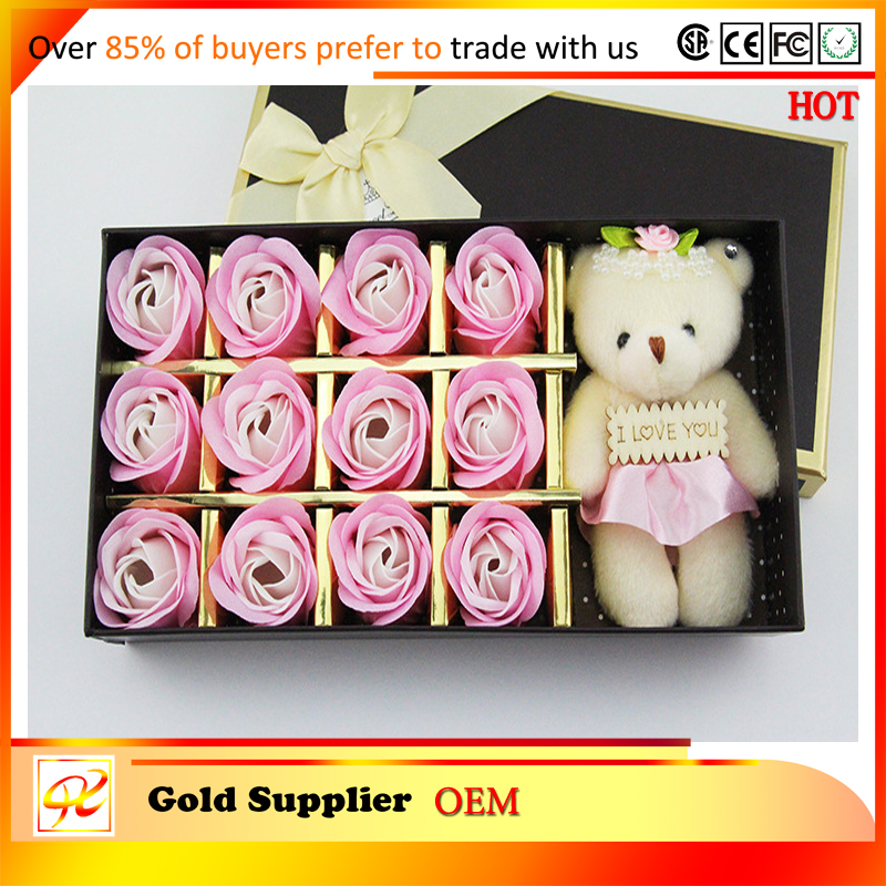 Rose flower shape handmade soap, festival gift