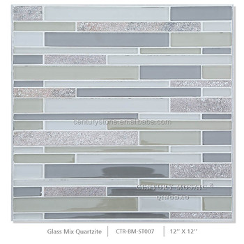 Natural Stone Mix Crystal Glass Mosaic Marble Tiles Prices In ...