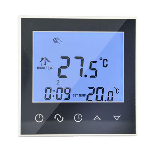 chauffage par le sol thermostat d 39 ambiance cran tactile. Black Bedroom Furniture Sets. Home Design Ideas