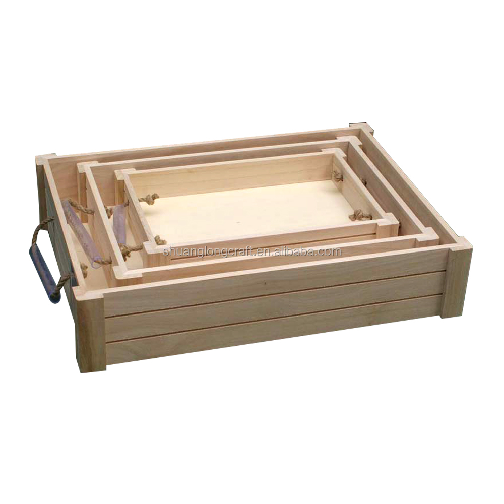 Caoxia unfinished wood craft supplies wooden apple crates wholesale,wood  vegetable crates for sale