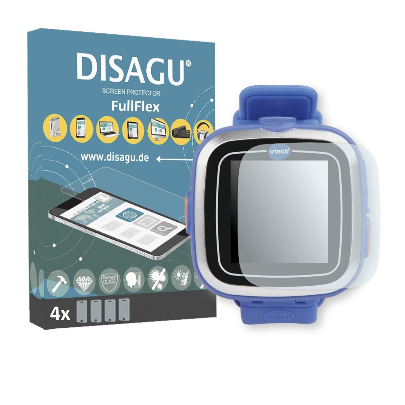 DISAGU 4 x FullFlex screen protector for Vtech Kidizoom Smart Watch 1 foil screen protector