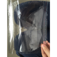 Transparent plastic resealable opp self adhesive cello bag with hanging header