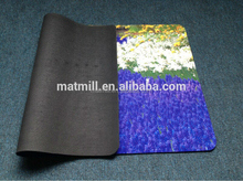 New fashion decorative sublimation full color rubber flooring mat ,4x4 floor mat