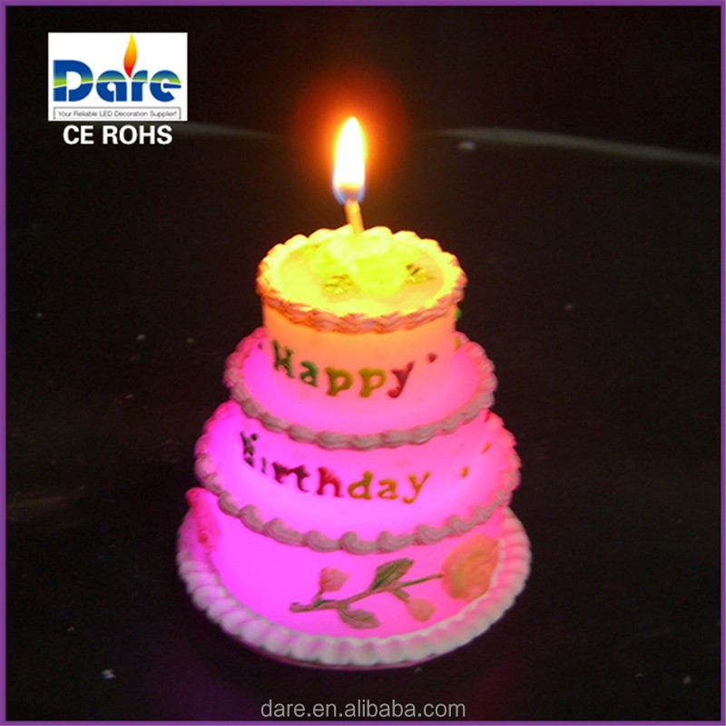 Remarkable Led Fancy Unique Birthday Cake Real Wax Candles Buy Unique Personalised Birthday Cards Veneteletsinfo