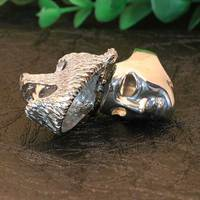 2018 interesting products men jewelry stainless steel bear hidden mask ring