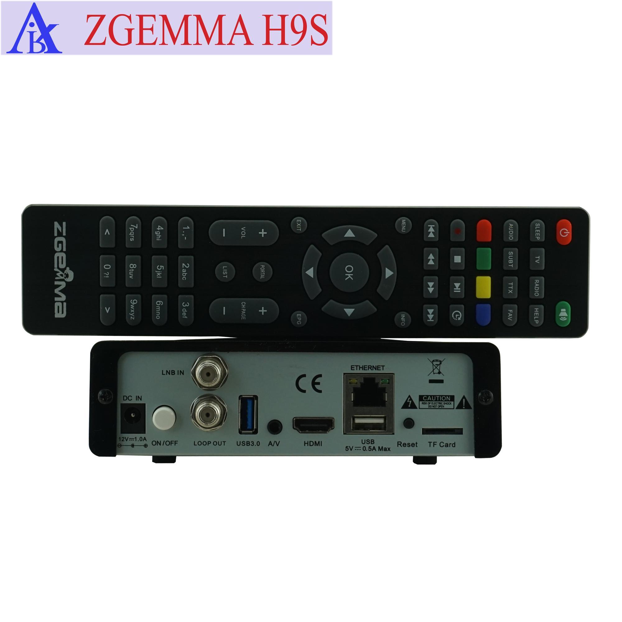 Oscam/cccam/qt Stalker Iptv 4k Uhd Tv Box Zgemma H9s Linux Os E2 Dvb-s2x  One Tuner - Buy Zgemma H9s Satellite Receiver,Air Digital 4k Uhd Tv