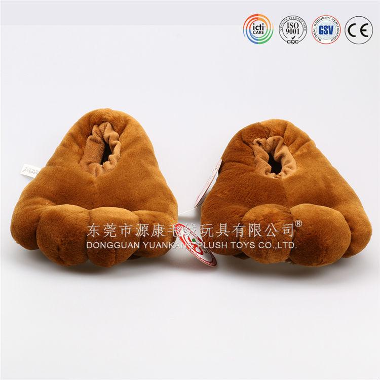 Super Soft Material Wholesale Plush Stuffed Animal Slippers Plush