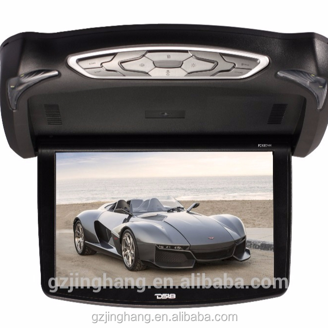 "13.3"" TFT Black Flip Down Car DVD Monitor wITH USB/SD/Video Games"