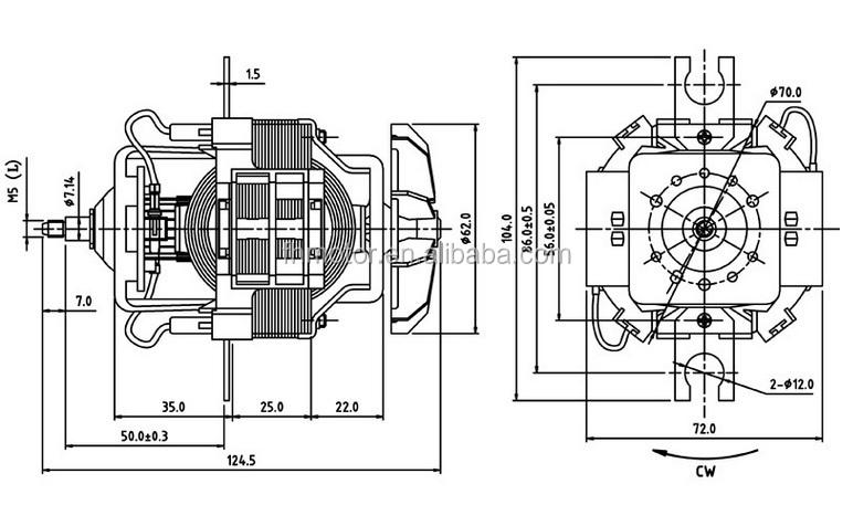 242 ac motor universal oster exprimidor licuadora