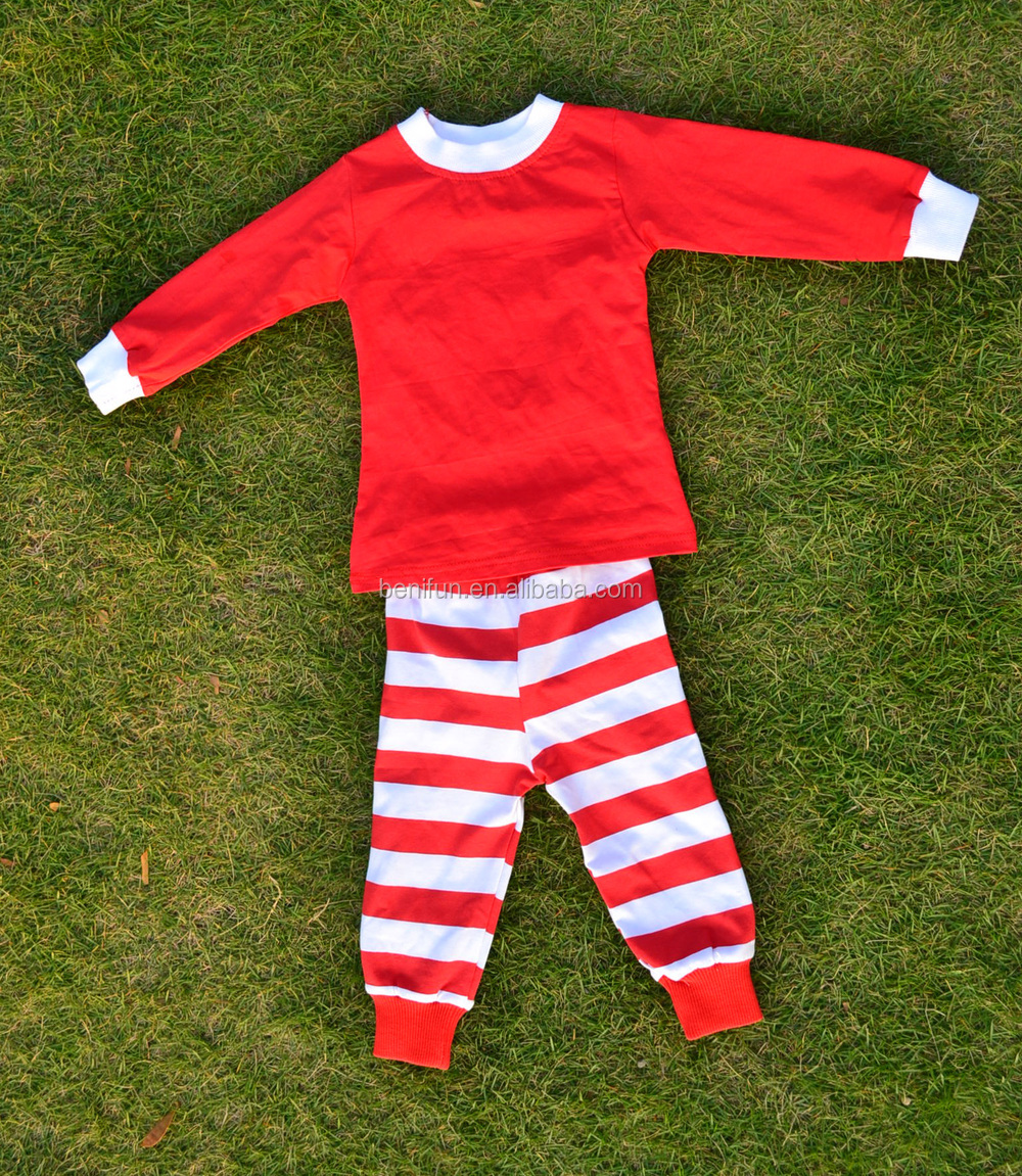 Newborn Infant Toddler Girls Christmas Pajamas Red Tops Matching ...
