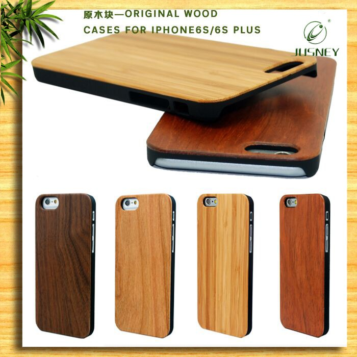 Bamboo Rose Walnut Wood PC Mobile Phone Case for Iphone 6s Case