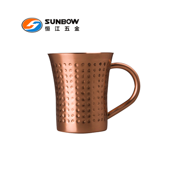 Hot sale hammered copper moscow mule mug of 100% copper