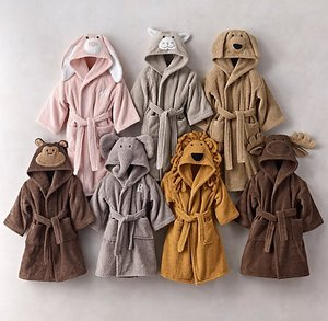 Baby hooded bathrobe custom animal baby robe