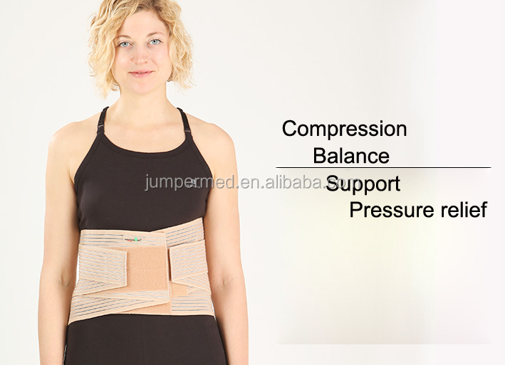 Orthopedic breathable adjustable sacro lumbar supports corset