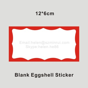Ultra Destructible Type Of Eggshell Stickers Professional