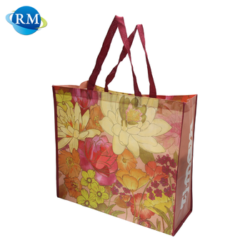 Rongmei Hight Quality Products Flower Logo Print Clothes Nonwoven Bag