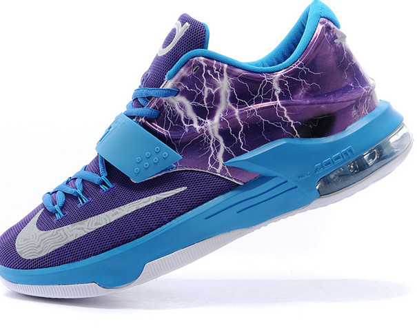 Pink And Purple Kd Basketball Shoes