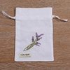B002 : white ramie/cotton drawstring embroidery gift bags, 5x7 inches sachet bags, travel pouches, linen bags