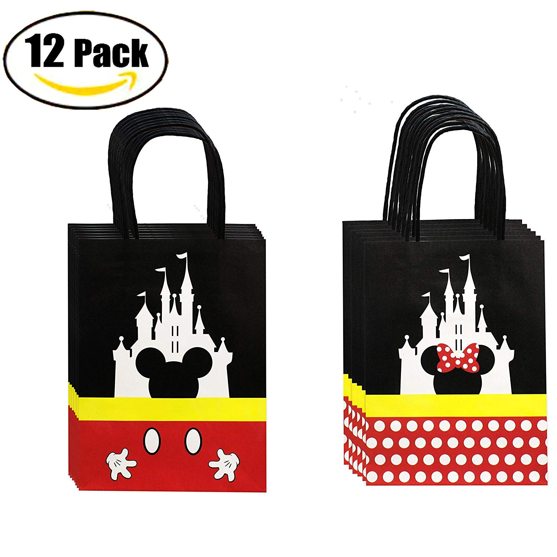 "QMZ Castle Paper Gift Bag Craft Bag with Handle-7.85""x5.9""x3.15"", 12 PCS"