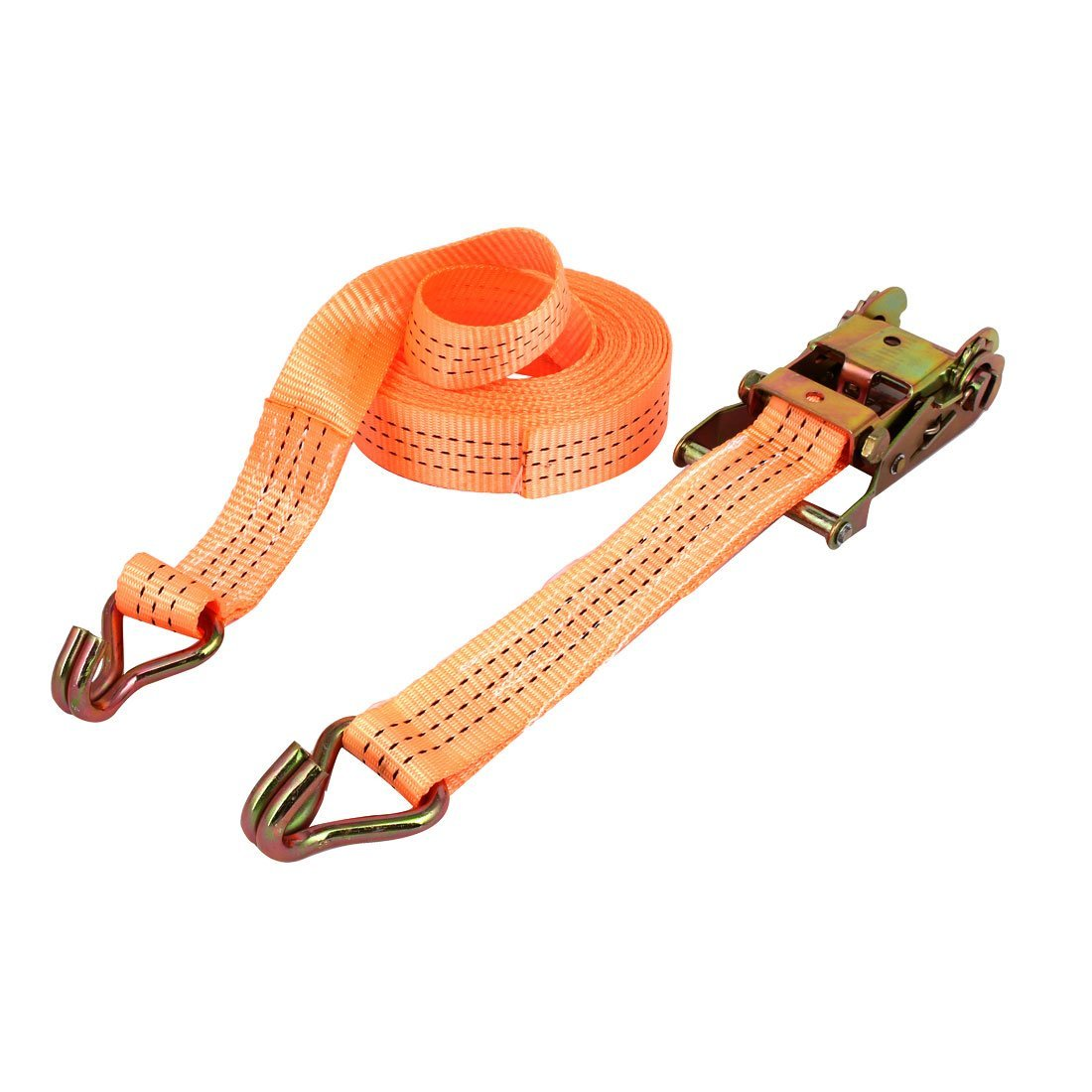 Yellow uxcell 10M x 25mm Lashing Strap Cargo Tie Down Straps with Cam Lock Buckle 250Kg Work Load