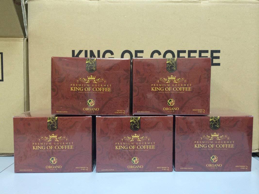 Organo Gold 6 Boxes Ganoderma Gourmet - Gourmet King Coffee (25 sachets)
