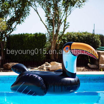 factory directly black Inflatable woodpecker+swan+unicorn+pizza+water pool float /large pelican inflatable swimming pool float
