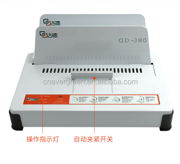 fashional office thermal book binding machine, document thermal binder 380