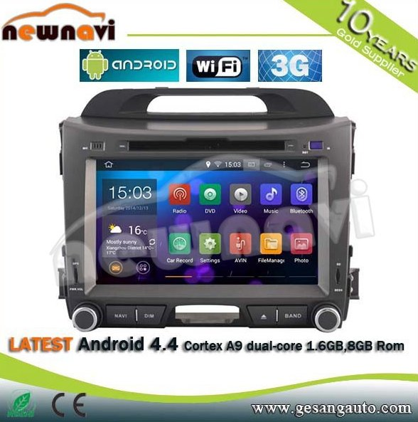 "8"" Car Multimedia System android 4.4.4 car radio with GPS Navigation BT,DVR,IPOD and TV"