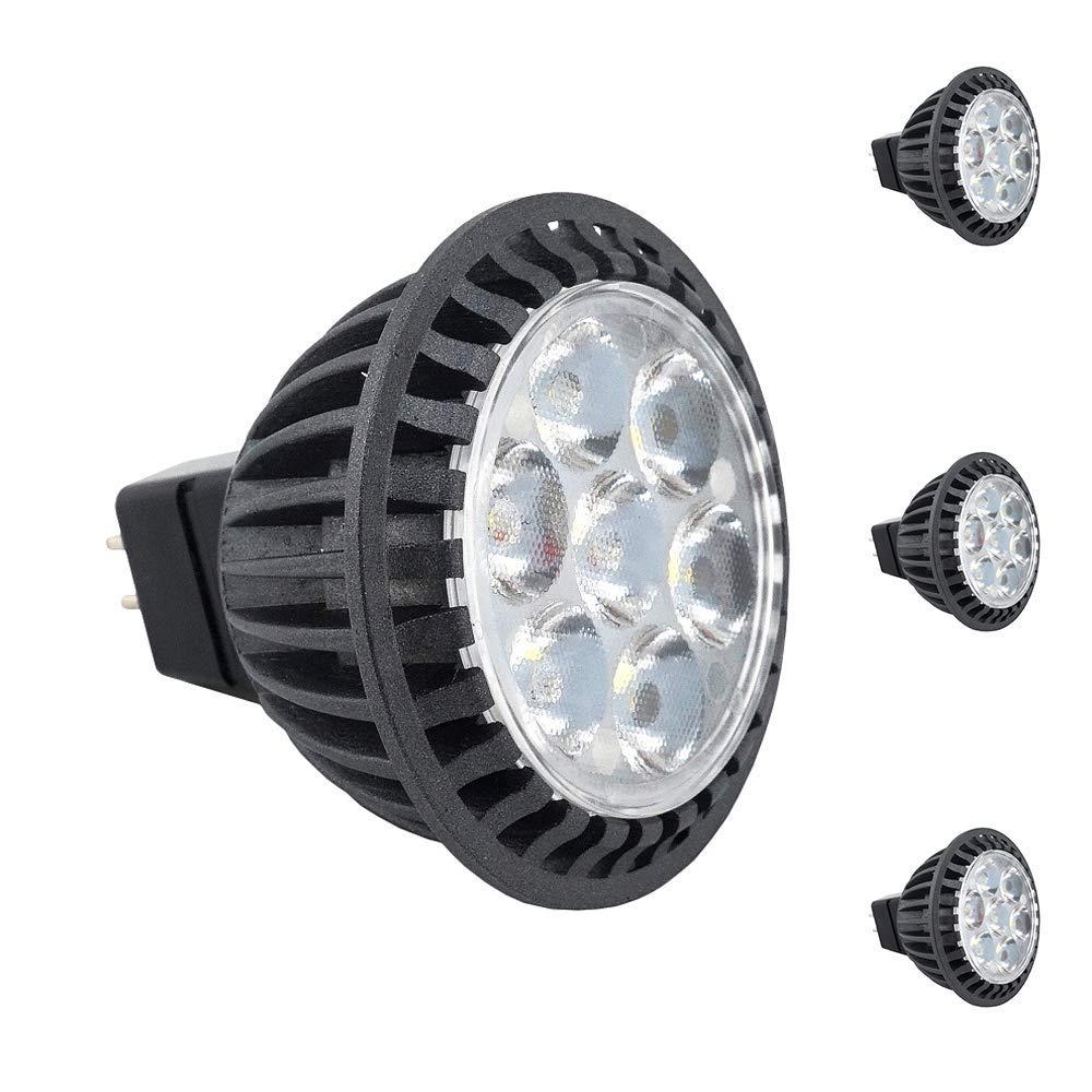 Bonlux 120V MR16 GU5.3 LED Bulbs - 5W (50W Halogen Bulbs Equivalent), 45° Beam Angle MR16 G5.3 Bi-pin LED Spotlight Warm White 3000K for Landscape Recessed Track Lighting (3-Pack)