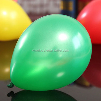 Globo Pearl Green Color Metallic Balloons
