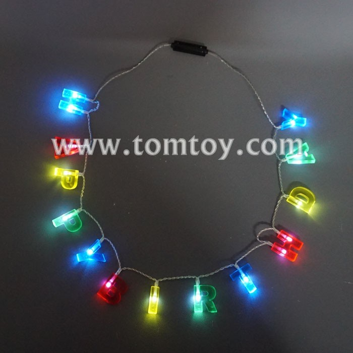 Happy Birthday LED Light Up Necklace
