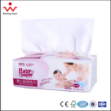 Disposable Soft Pack Cotton Baby Facial Tissue Paper