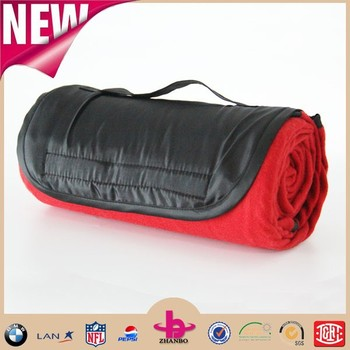 Polar Fleece Waterproof Folding Blanket Camping Outdoor Beach Picnic Rug Mat Roll Up Portable Colorful