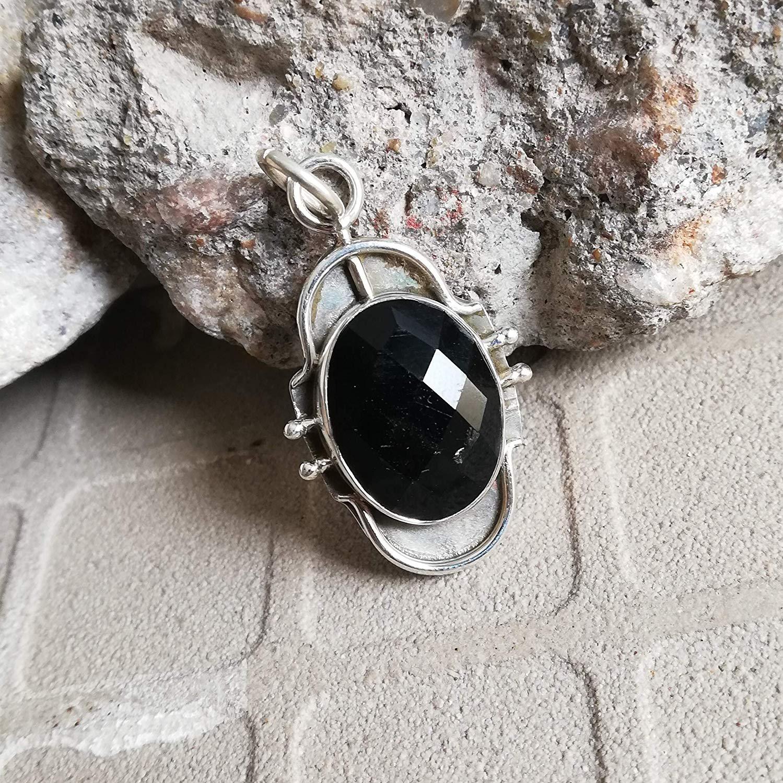 Black Onyx Pendant, 925 Sterling Silver, New Design Pendant, Original Handmade, Checkered Gemstone Pendant, Sister Gift Pendant, Healing Pendant, Natural Pendant, Extraordinary Pendant, Boho Chic