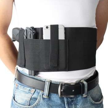 Elastic Belly Band Holster For Concealed Carry With Spare Magazine Pocket -  Buy Belly Band Holster,Belly Holster Magazine Pocket,Elastic Belly Band