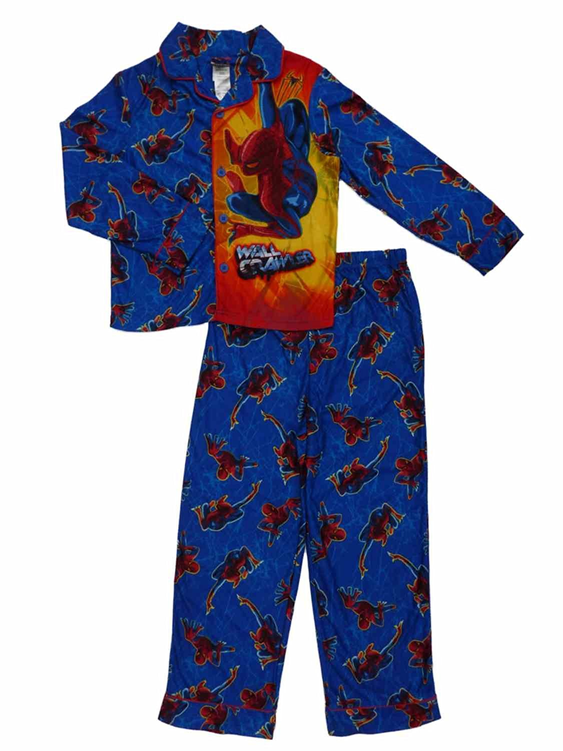 Marvel Boys The Amazing Spider-Man Flannel Sleepwear Pajama Set 8