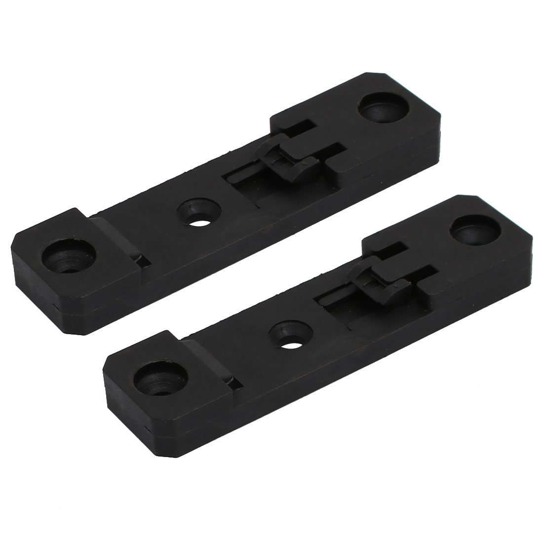 uxcell 2 Pcs 35mm Width Nylon Spring Loaded DIN Guide Rail Buckle Clasp 76mmx20mmx8mm