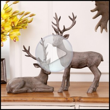 Oem Resin Deer Home Statue Decor,Resin Plastic Statue Sculpture ...