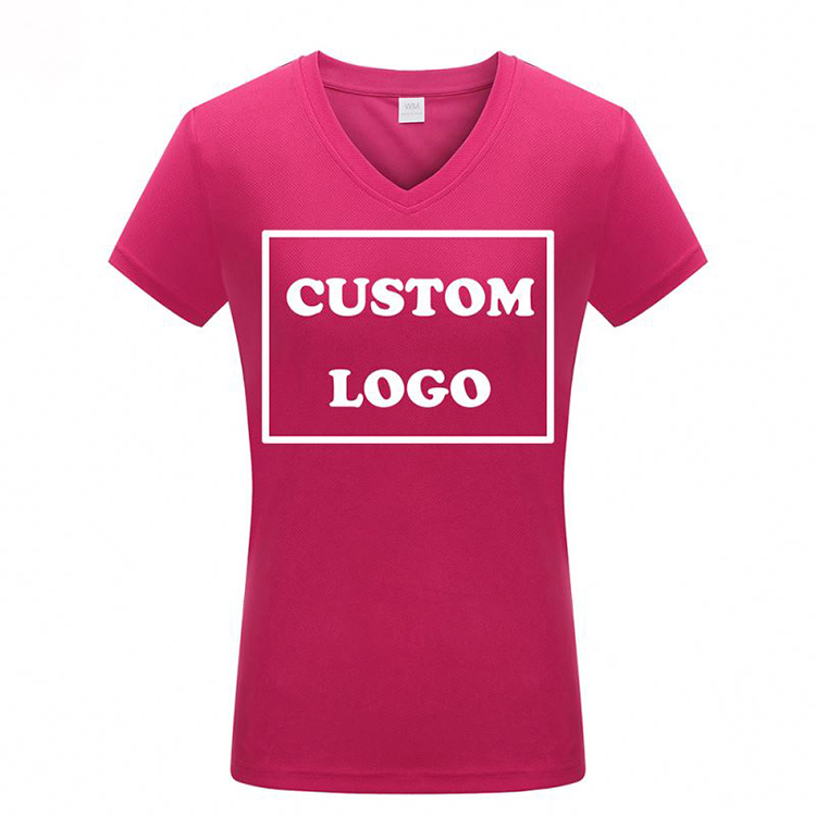 High quality Plain Color Unisex Women Custom Logo Anti-wrinkle T-shirt