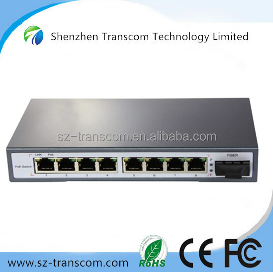 9 port POE switch with 8 POE ports and 1SC fiber port/ 8 port POE switch/ Switch POE POE31008PF