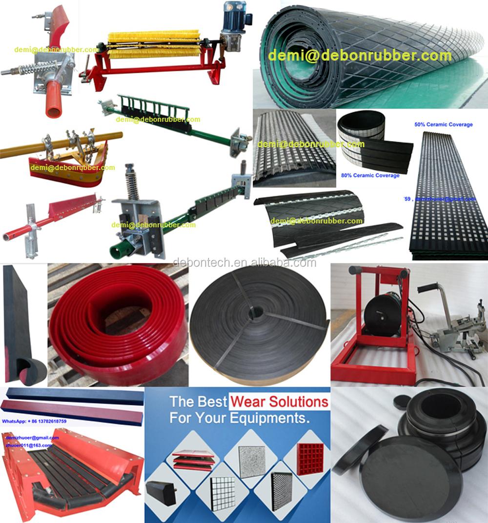 Haute résistance à l'usure de grattoir d'extraction réglable ceinture rouleau secondaire nettoyeur à bande transporteuse