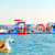 Zomer opblaasbare sea island waterpark opblaasbare drijvende obstakels amusement water thema park