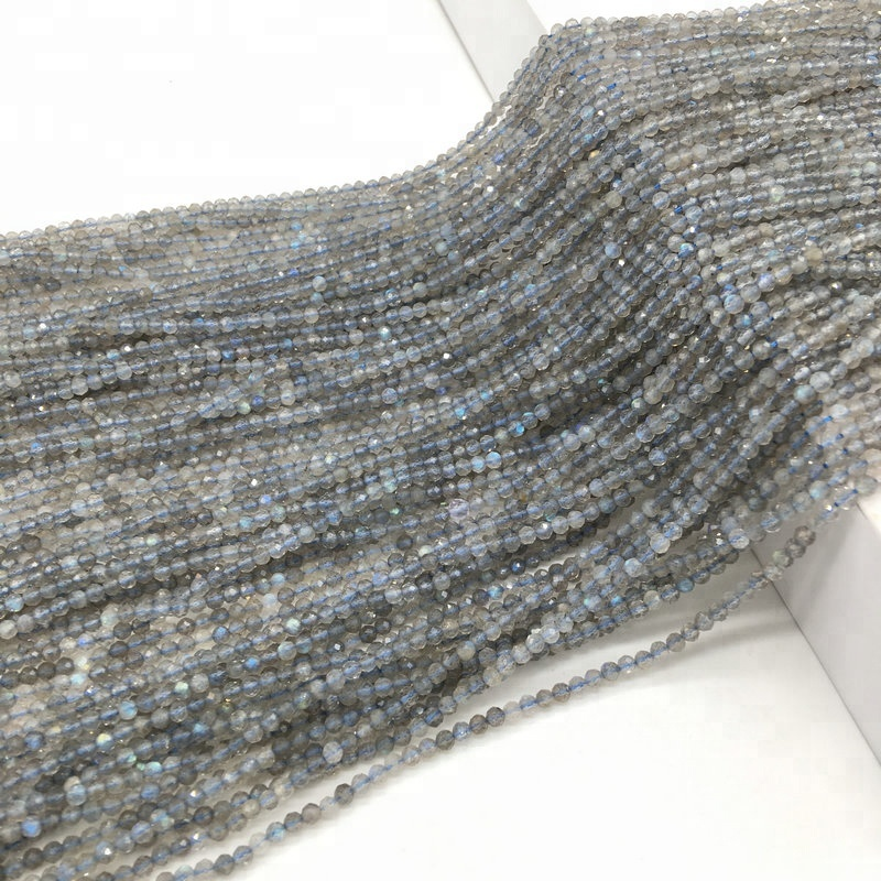 Fashion 2mm 3mm Low Price Labradorite Faceted Beads Wholesale