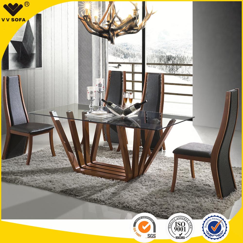 Kangbao muebles hogar mesa de comedor de cristal y sillas for Mesas de comedor de vidrio