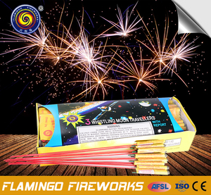 Brilliant quality 3 Whistling Moon Travellers big rocket fireworks